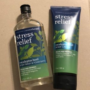 Bath and Body Works Stress Relief Body Wash Cream